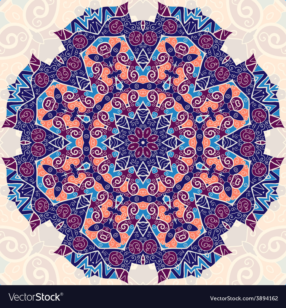 Colorful mandala ethnic ornament template for vector | Price: 1 Credit (USD $1)