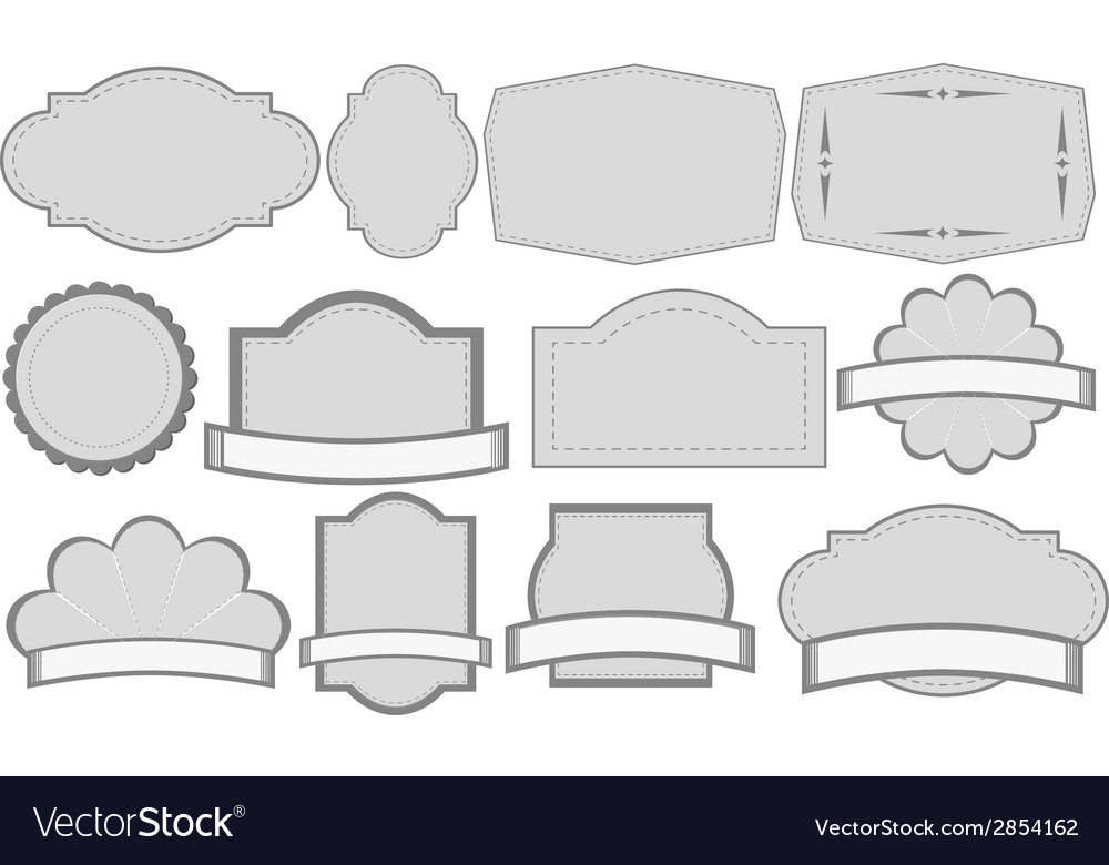 Grey labels vector | Price: 1 Credit (USD $1)