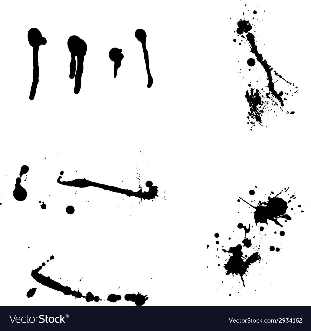 Ink blots vector | Price: 1 Credit (USD $1)