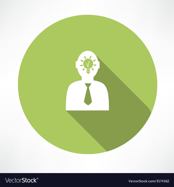 Man head with idea icon vector | Price: 1 Credit (USD $1)