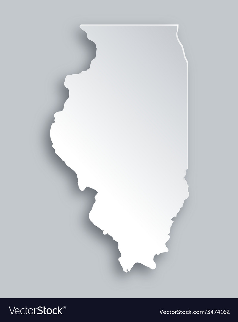 Map of illinois vector | Price: 1 Credit (USD $1)