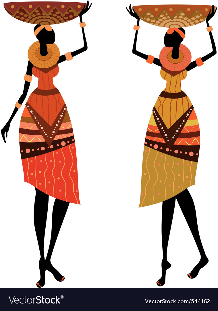 Native african women vector | Price: 1 Credit (USD $1)