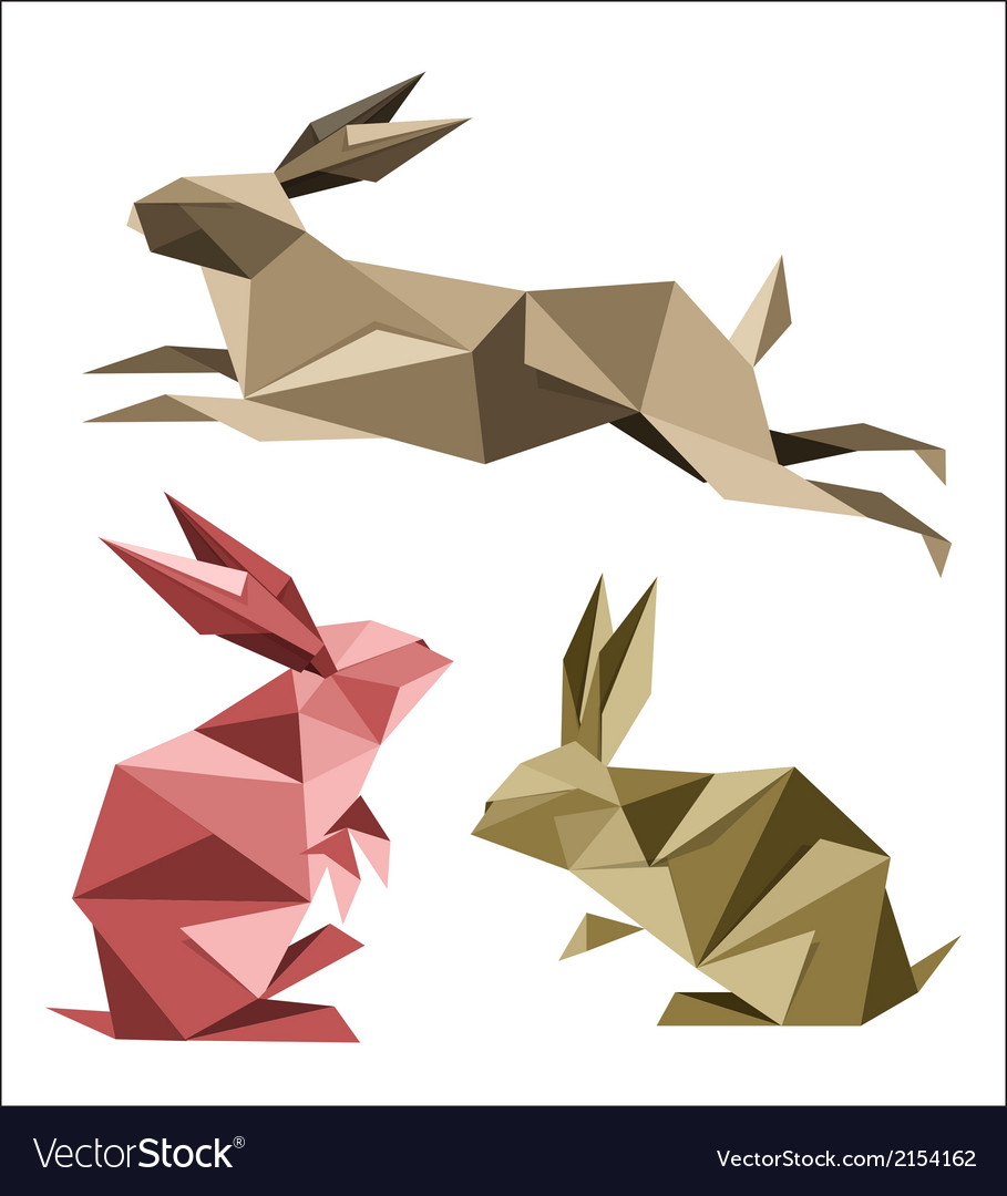 Origami rabbit vector | Price: 1 Credit (USD $1)