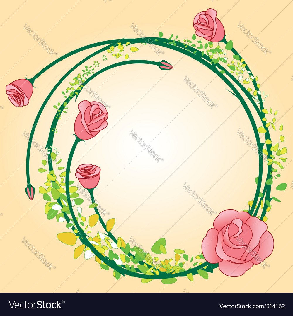 Rose border vector | Price:  Credit (USD $)
