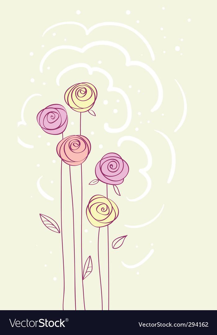 Rose card vector   Price: 1 Credit (USD $1)