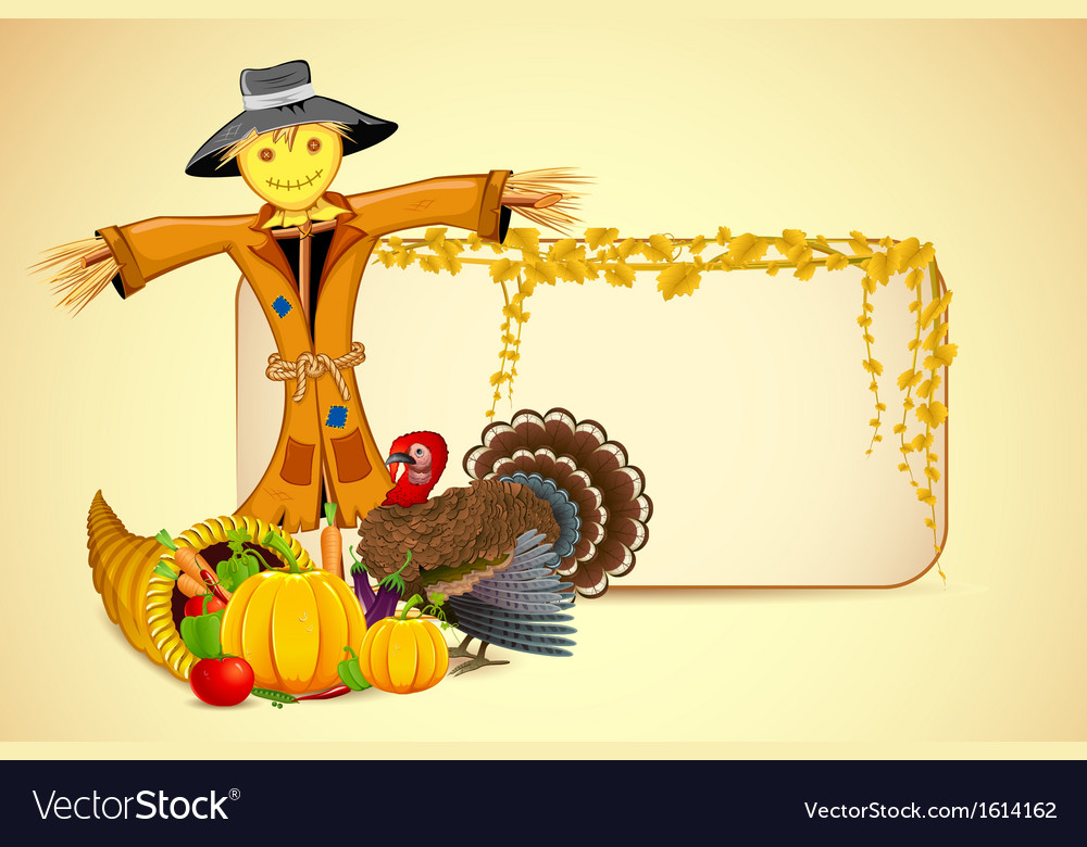 Scarecrow with vegetable vector | Price: 1 Credit (USD $1)