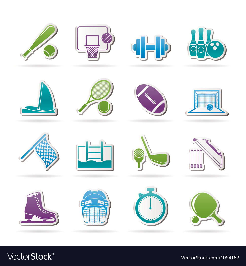 Sport objects icons vector | Price: 1 Credit (USD $1)
