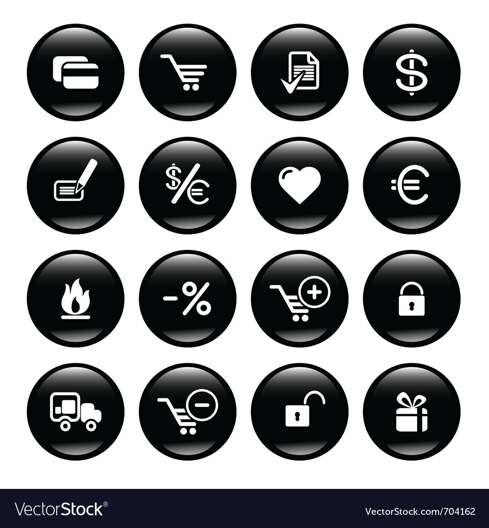 Web commerce icons vector | Price: 1 Credit (USD $1)