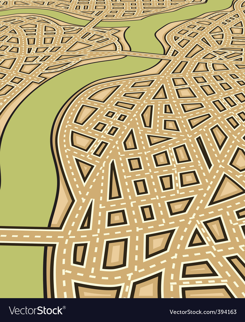 Angled streets vector | Price: 1 Credit (USD $1)