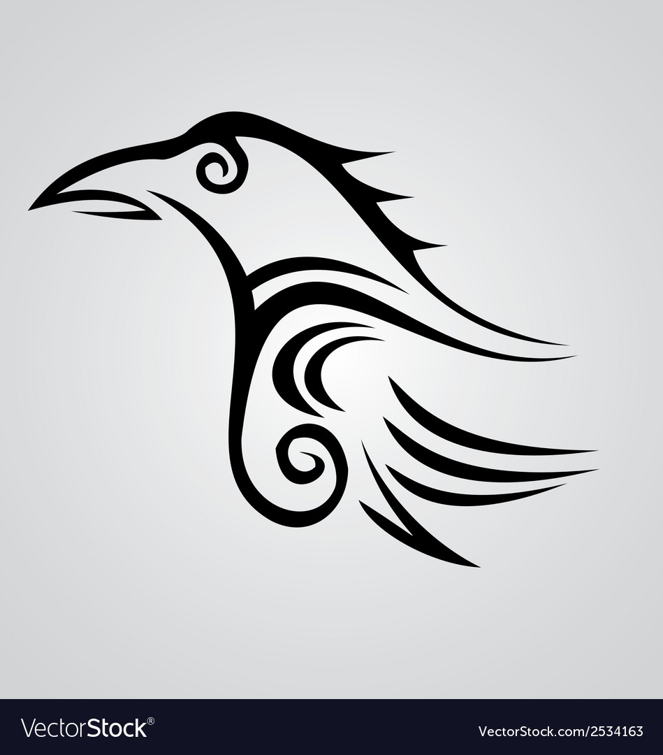 Crow tribal vector | Price: 1 Credit (USD $1)