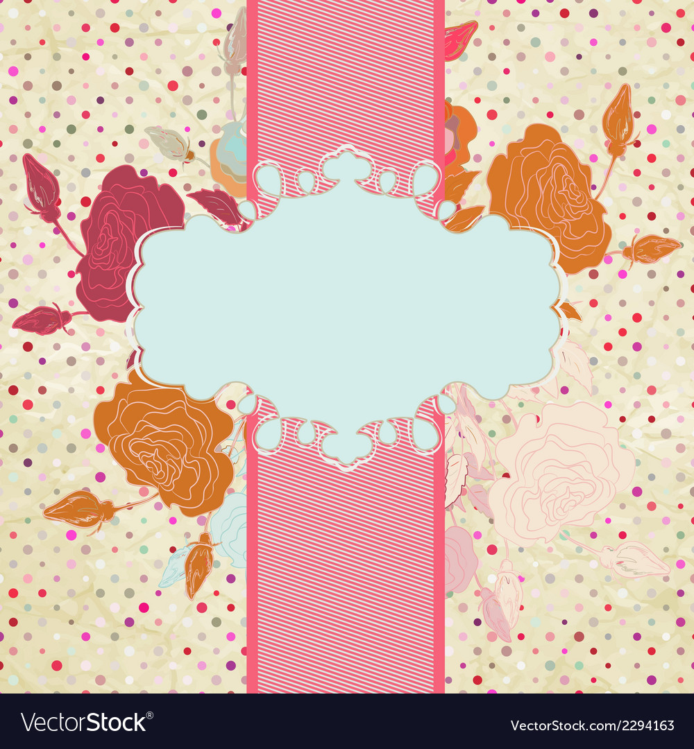 Floral heart valentine card eps 8 vector | Price: 1 Credit (USD $1)