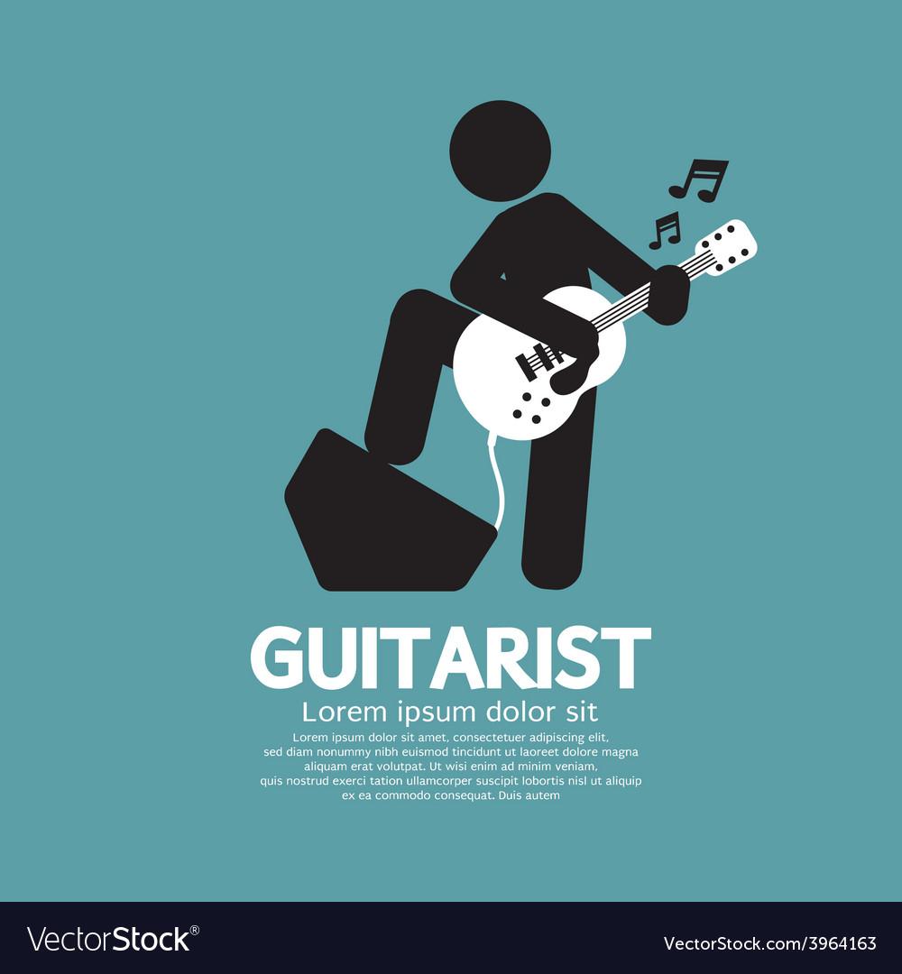 Guitarist black symbol graphic vector | Price: 1 Credit (USD $1)