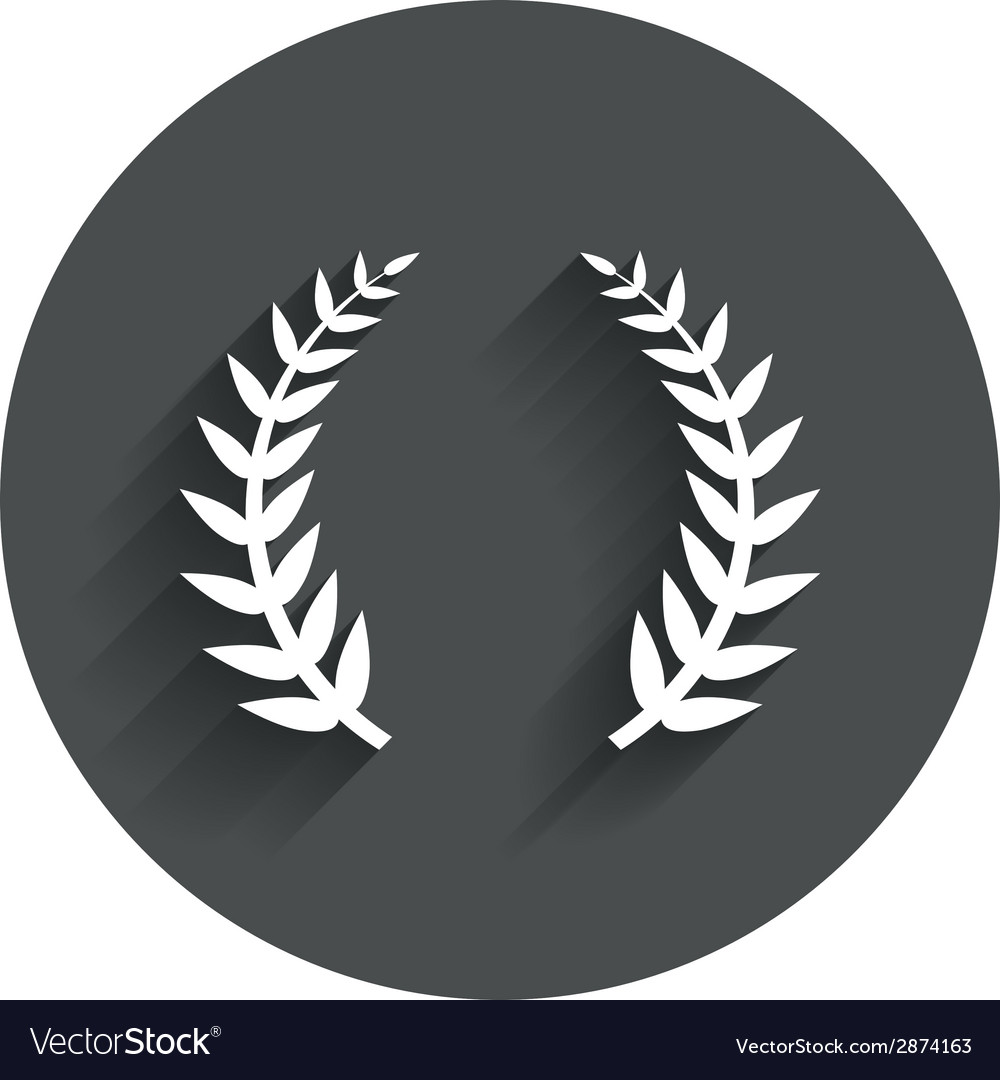Laurel wreath sign icon triumph symbol vector | Price: 1 Credit (USD $1)