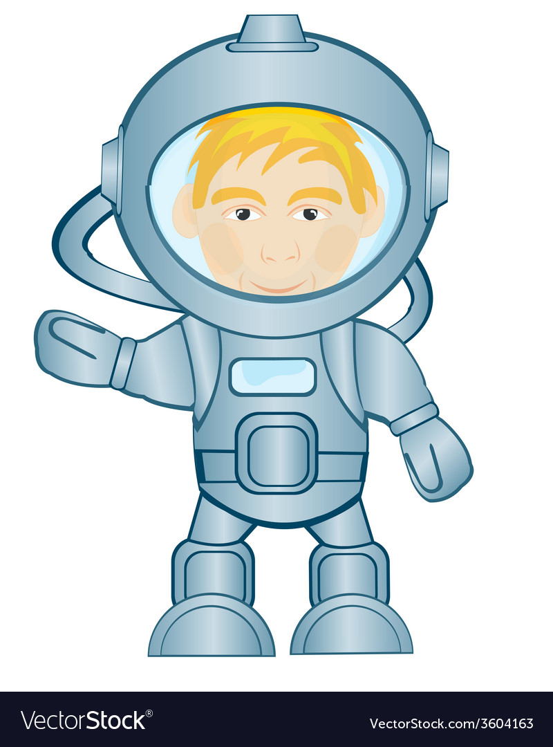 Spaceman in space suit vector | Price: 1 Credit (USD $1)