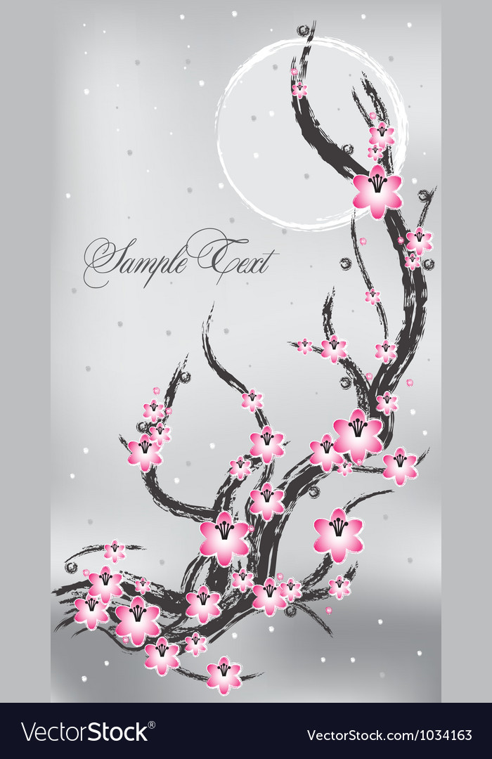 Spring flower banner vector | Price: 1 Credit (USD $1)
