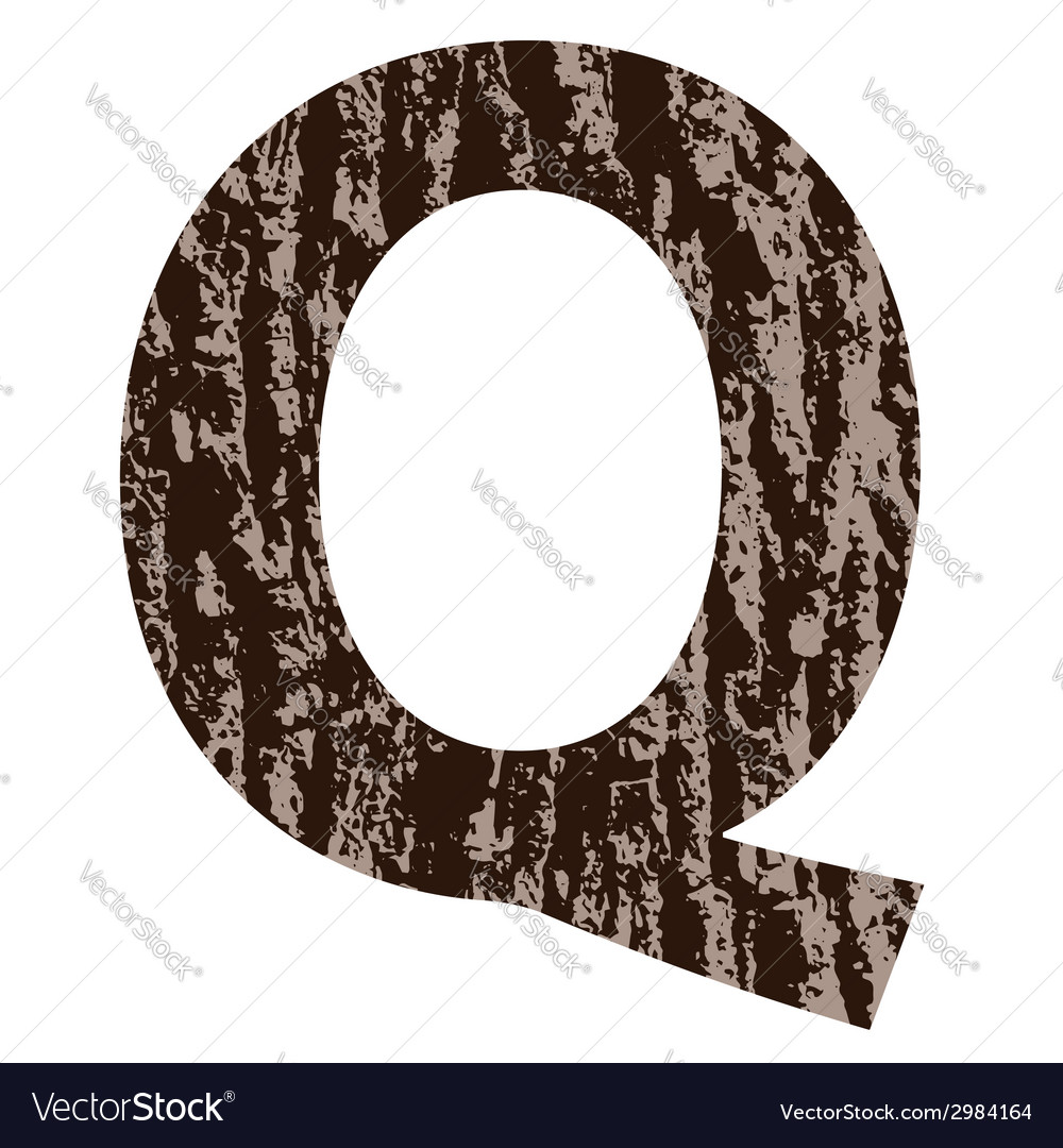 Bark letter q vector | Price: 1 Credit (USD $1)