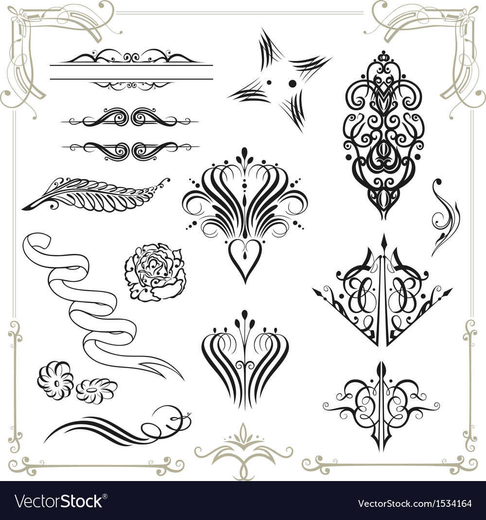 Calligraphy  design elements vector | Price: 1 Credit (USD $1)