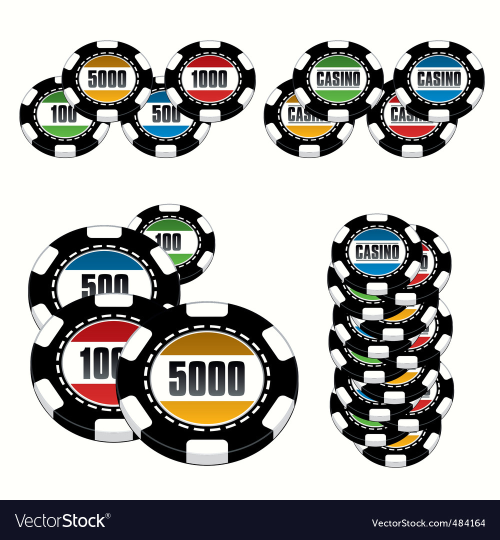 Casino chips set vector | Price: 1 Credit (USD $1)