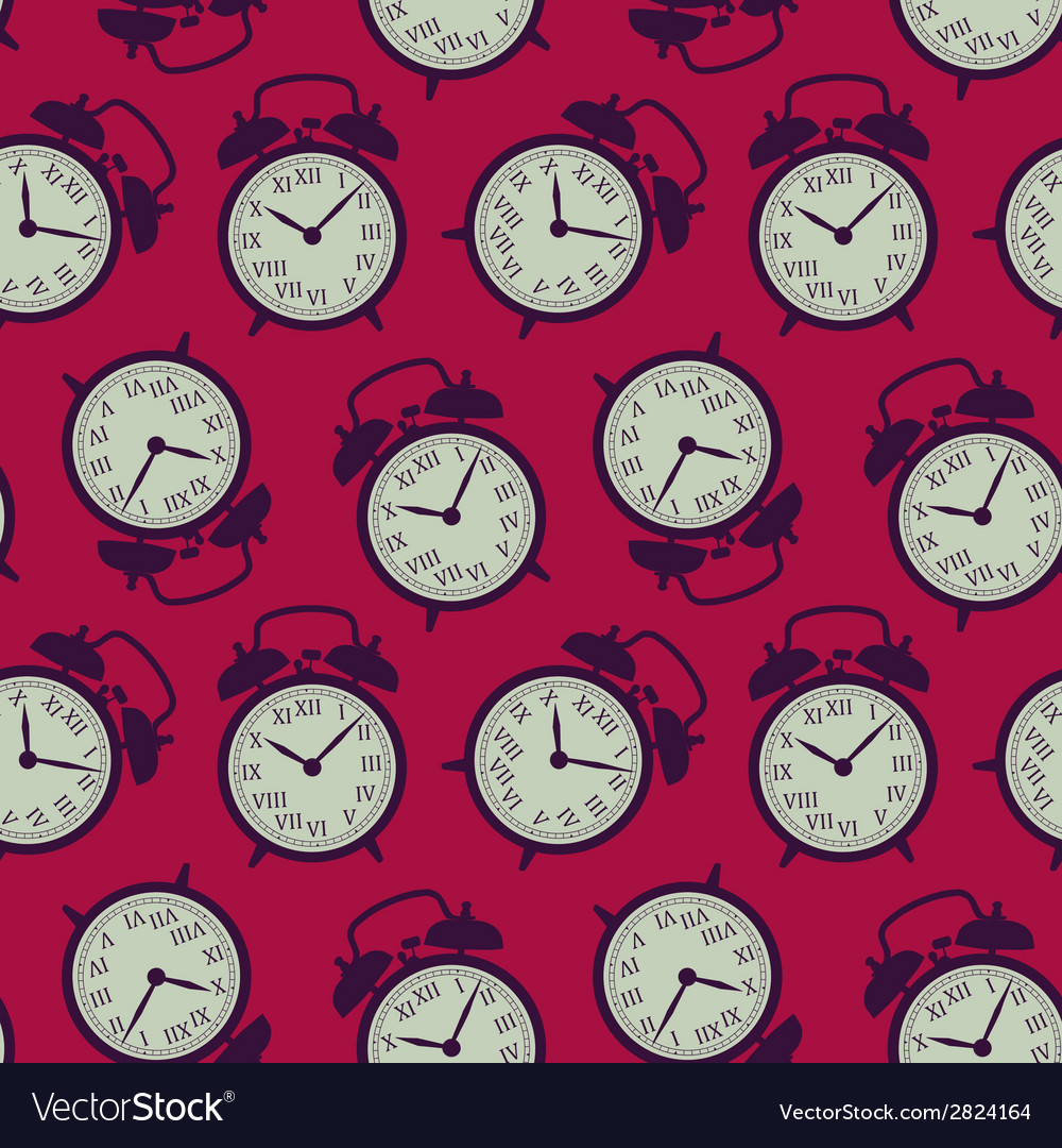 Clock seamless background vector | Price: 1 Credit (USD $1)