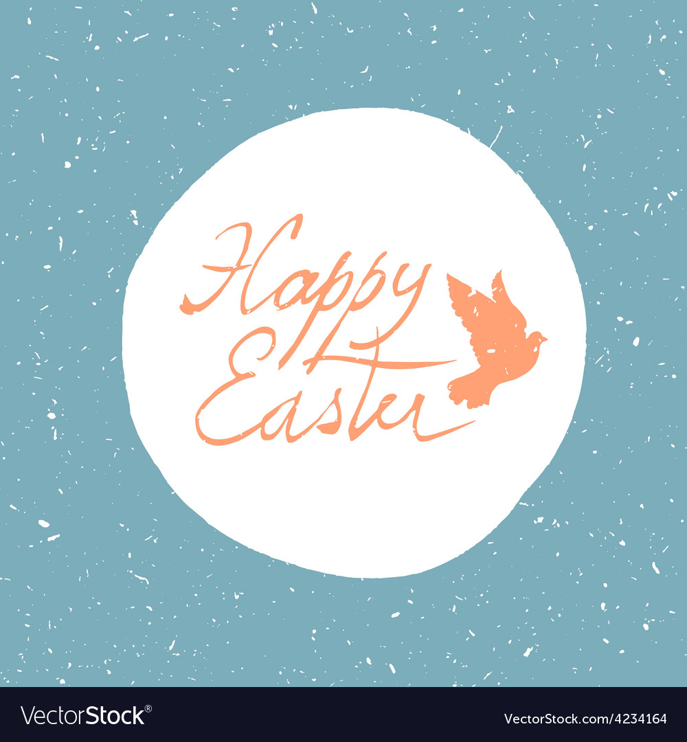 Easter card with dove vector | Price: 1 Credit (USD $1)