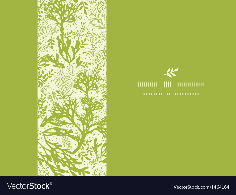 Green underwater seaweed horizontal seamless vector | Price: 1 Credit (USD $1)
