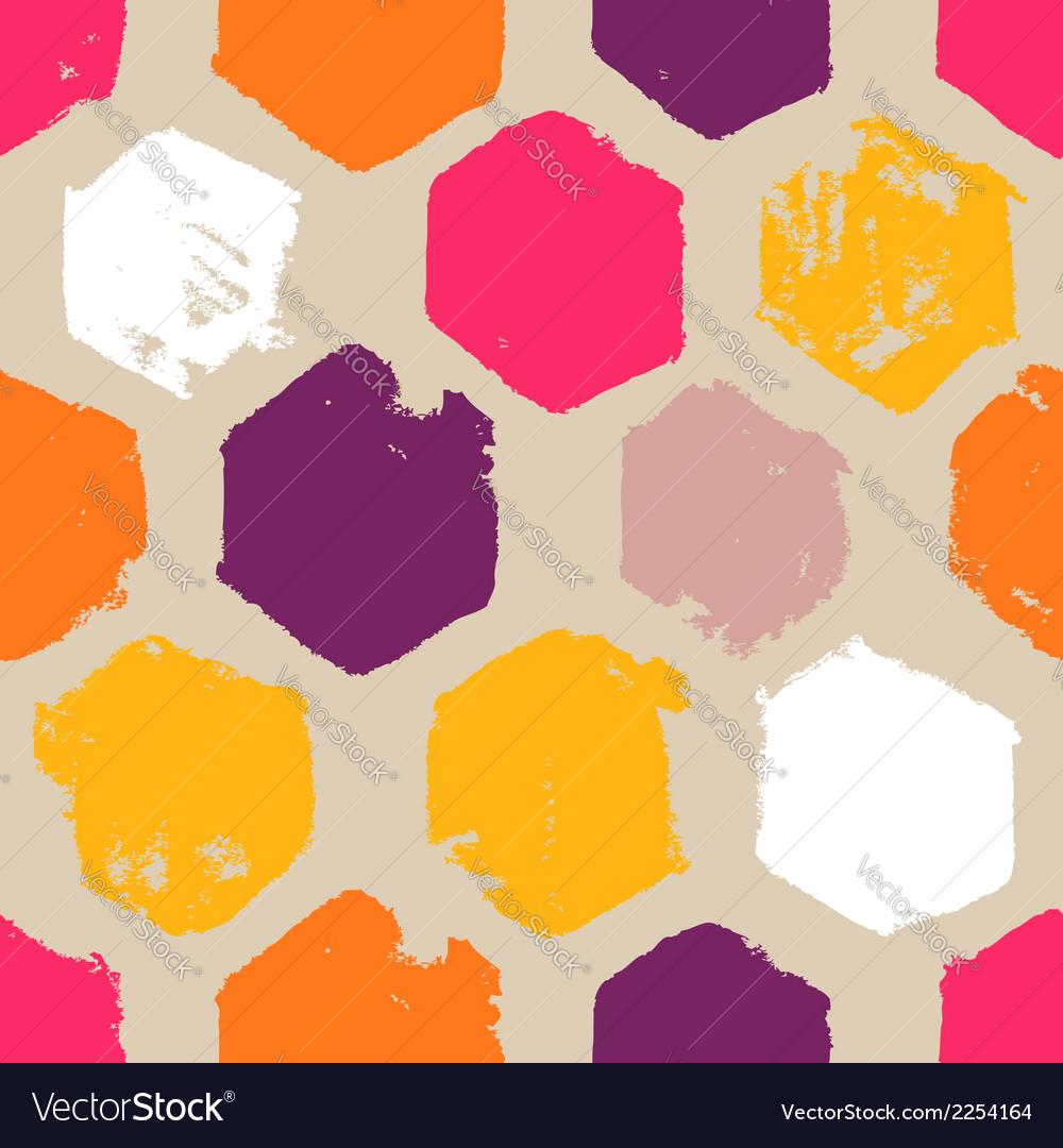 Hand drawn hexagon pattern vector | Price: 1 Credit (USD $1)