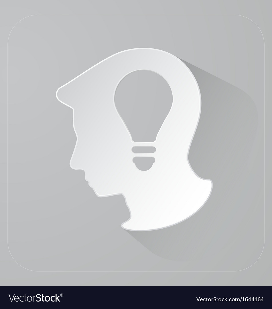 Head of person thinking idea vector | Price: 1 Credit (USD $1)