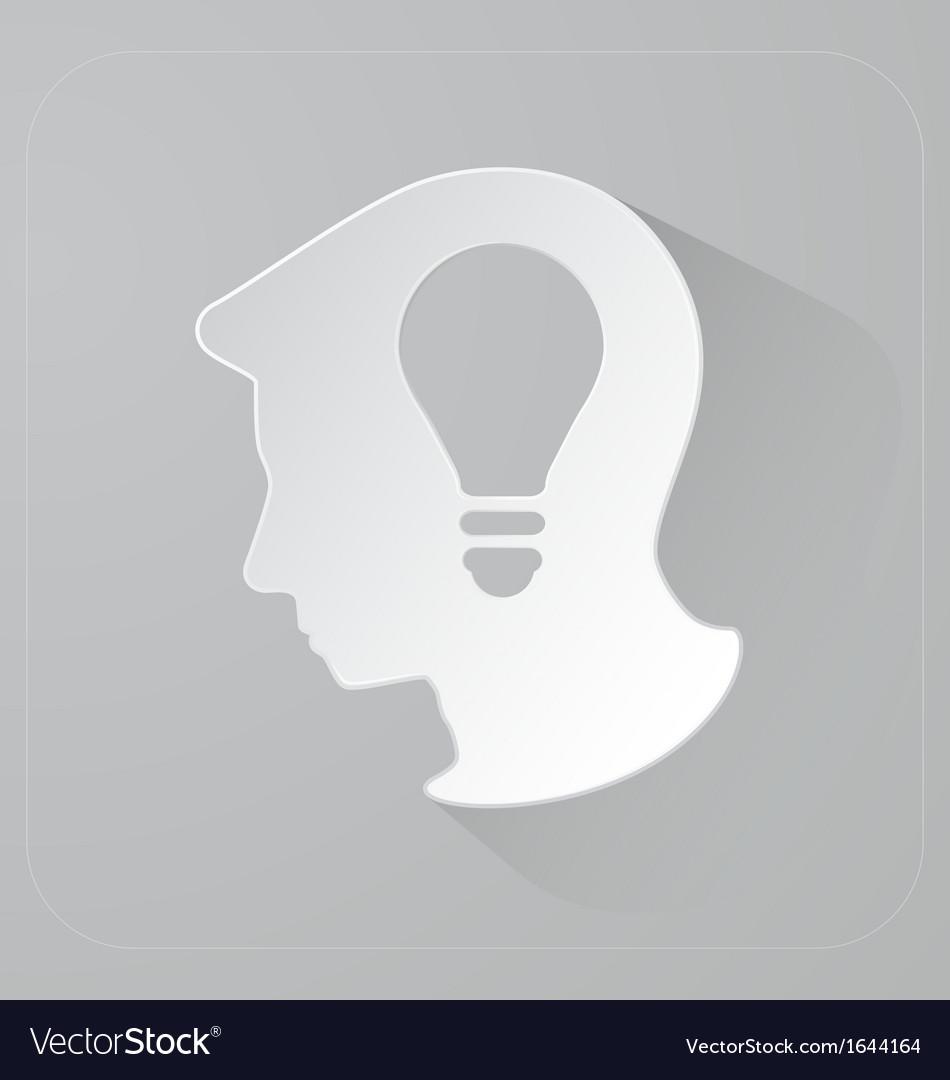 Head of person thinking idea vector | Price: 1 Credit (USD $1)