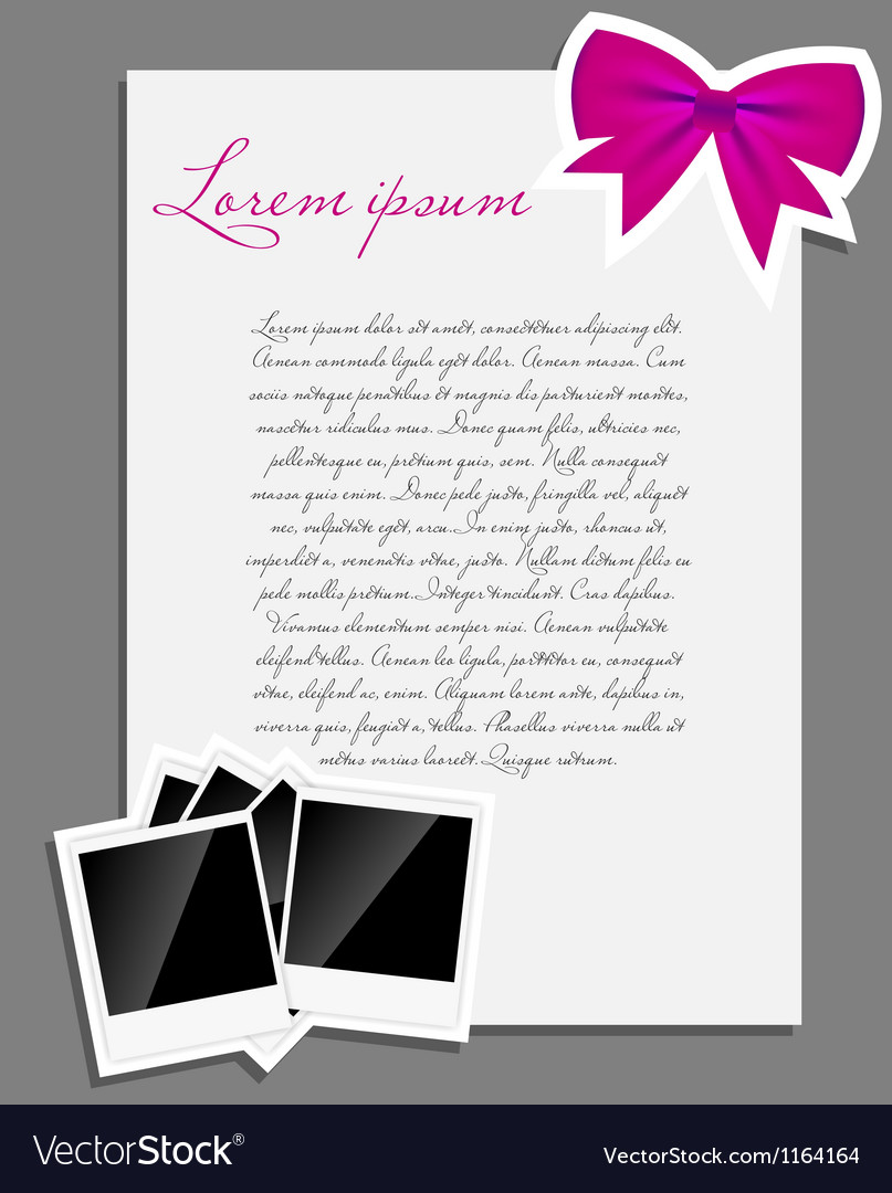 Instant photo background blank page vector | Price: 1 Credit (USD $1)
