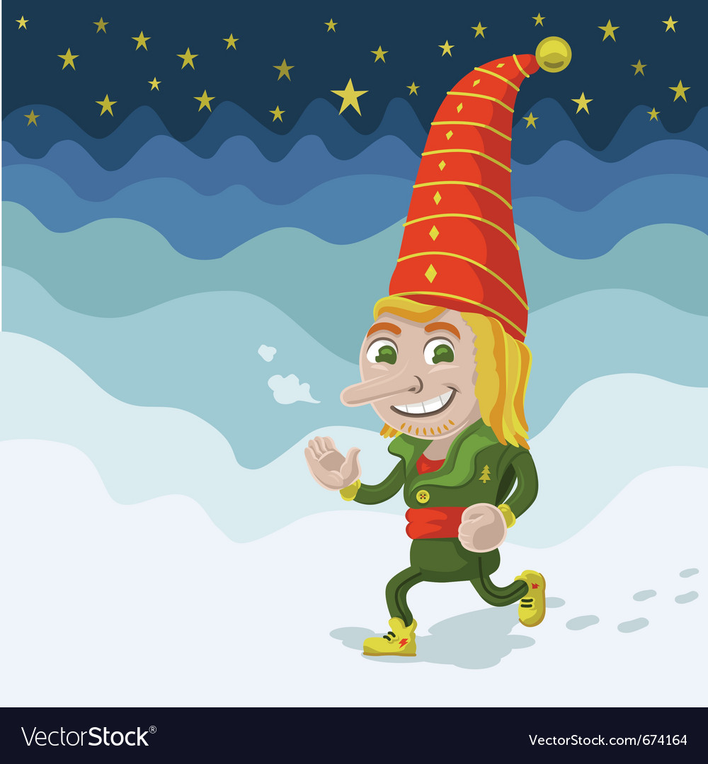 Jogging elf vector | Price: 3 Credit (USD $3)