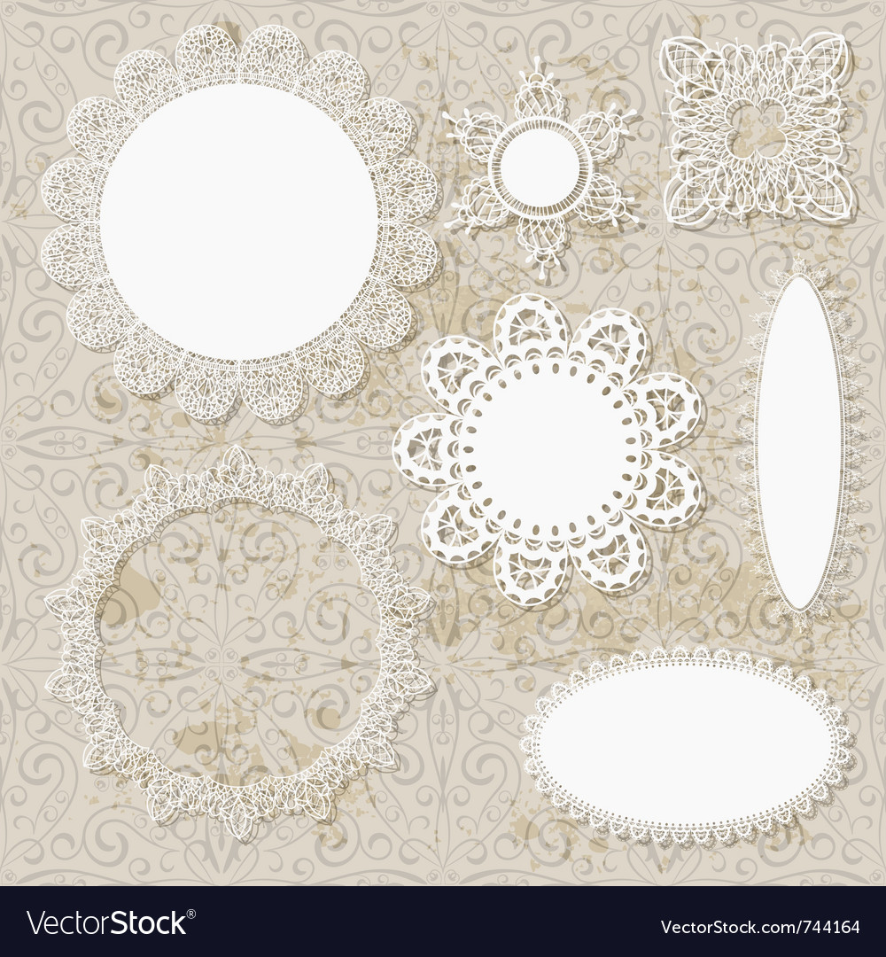 Lacy scrapbooking napkin designs vector | Price: 1 Credit (USD $1)
