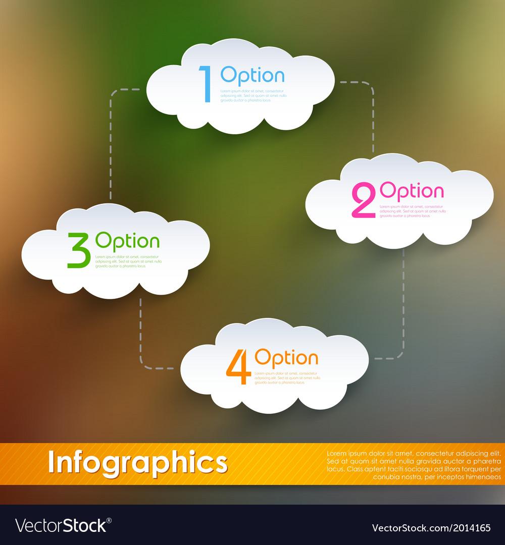 Cloud computing infographics vector | Price: 1 Credit (USD $1)