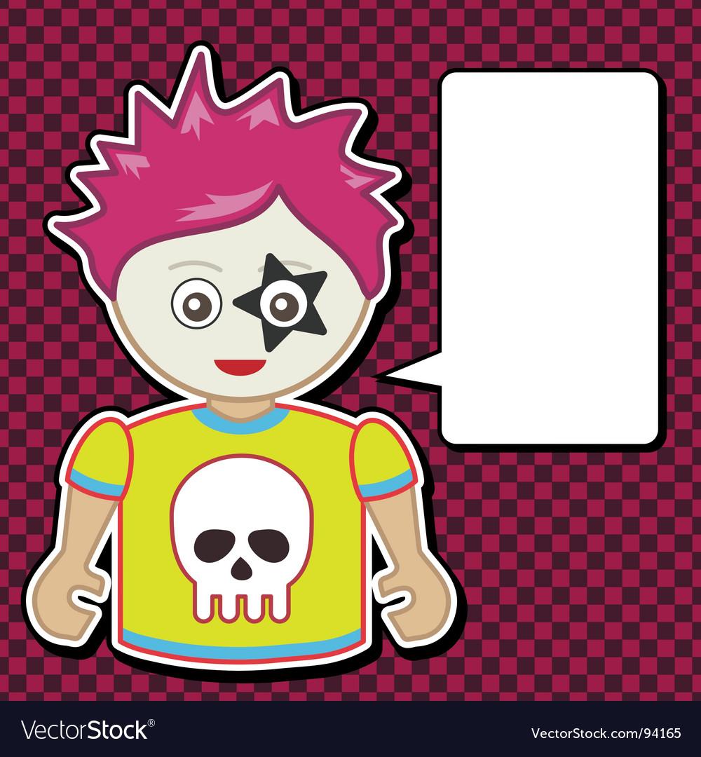Emo girl vector | Price: 1 Credit (USD $1)