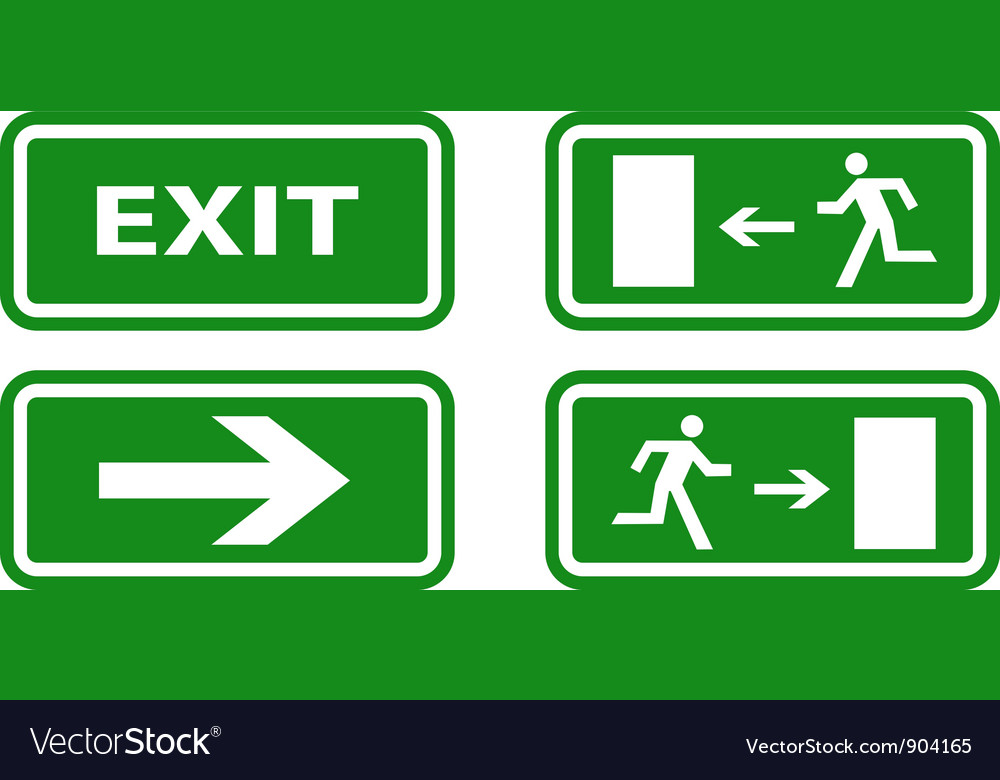Exit icons vector | Price: 1 Credit (USD $1)