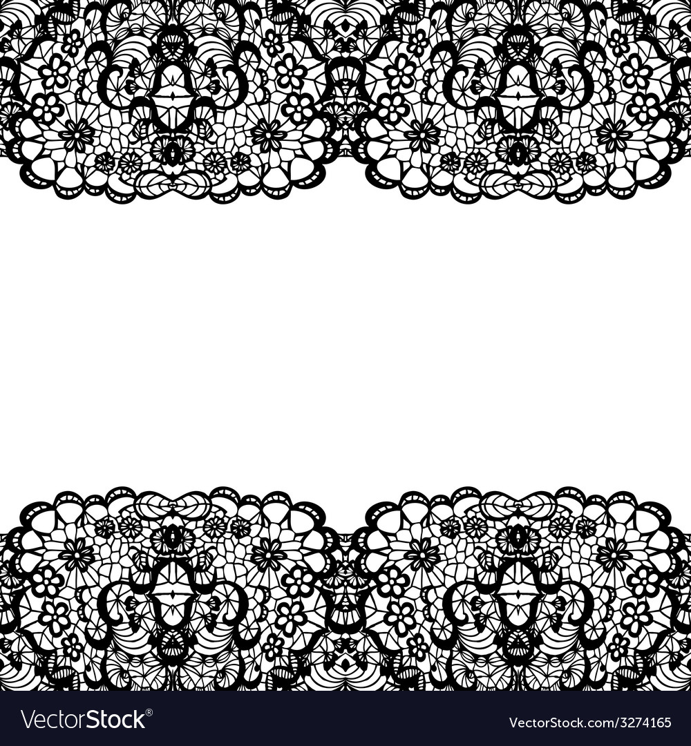 Lacy backgound black lace vector | Price: 1 Credit (USD $1)