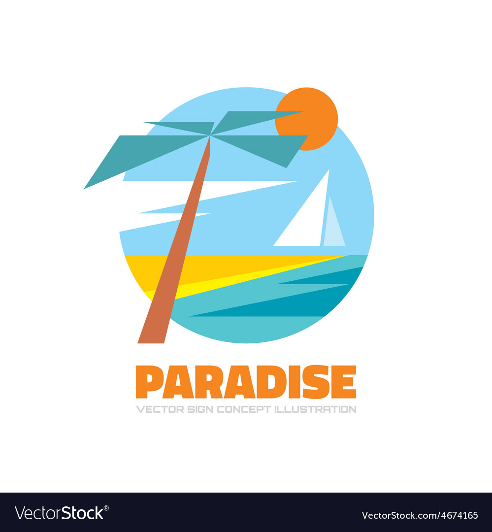 Paradise - logo creative vector | Price: 1 Credit (USD $1)