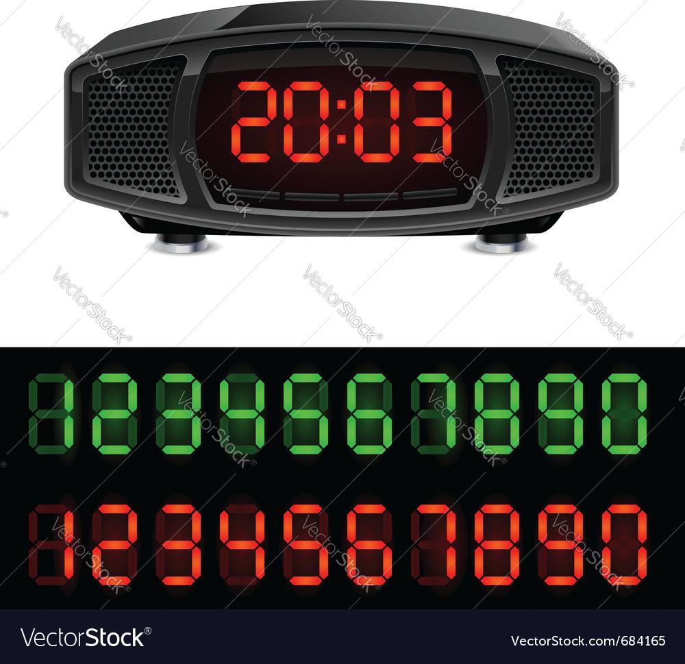 Radio alarm clock vector | Price: 1 Credit (USD $1)