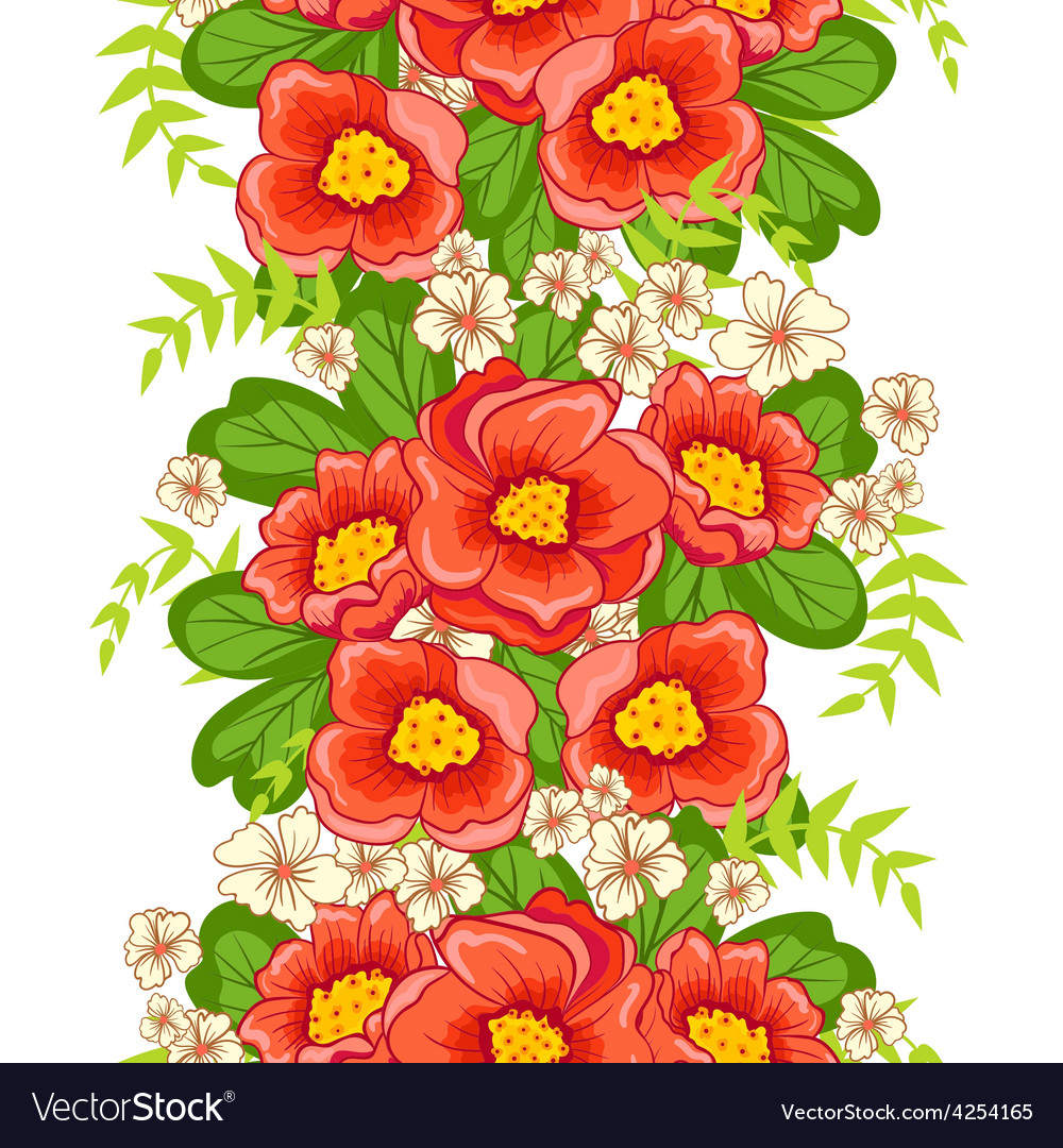 Seamless floral ornament vector | Price: 1 Credit (USD $1)