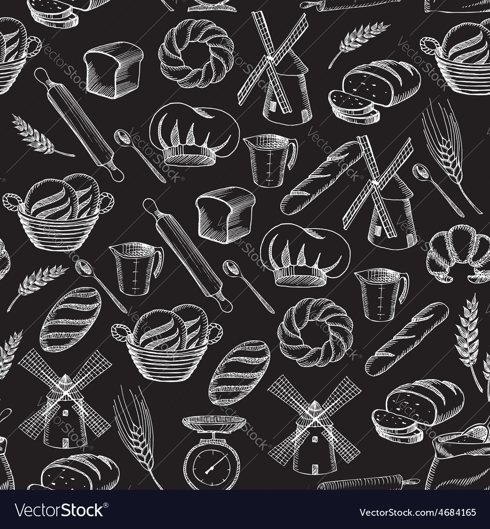Seamless pattern background bakery package vector   Price: 1 Credit (USD $1)