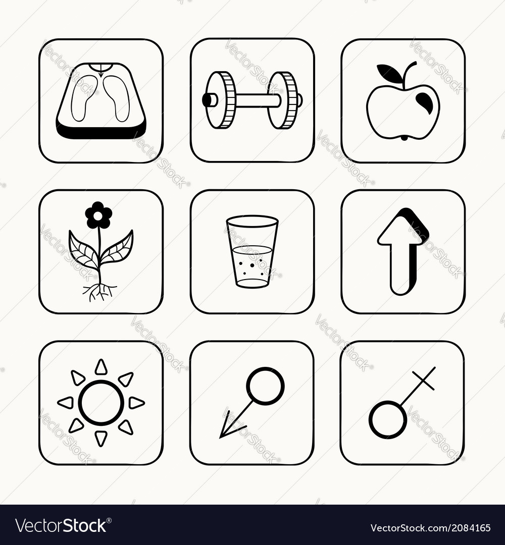 Simple medical icons set vector | Price: 1 Credit (USD $1)