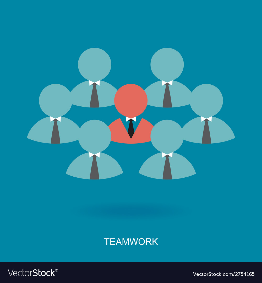Teamwork symbol vector | Price: 1 Credit (USD $1)