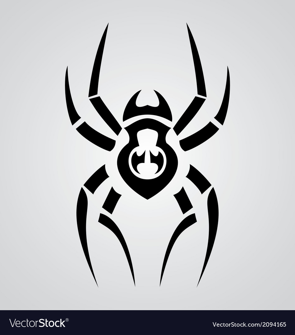 Tribal spiders vector | Price: 1 Credit (USD $1)