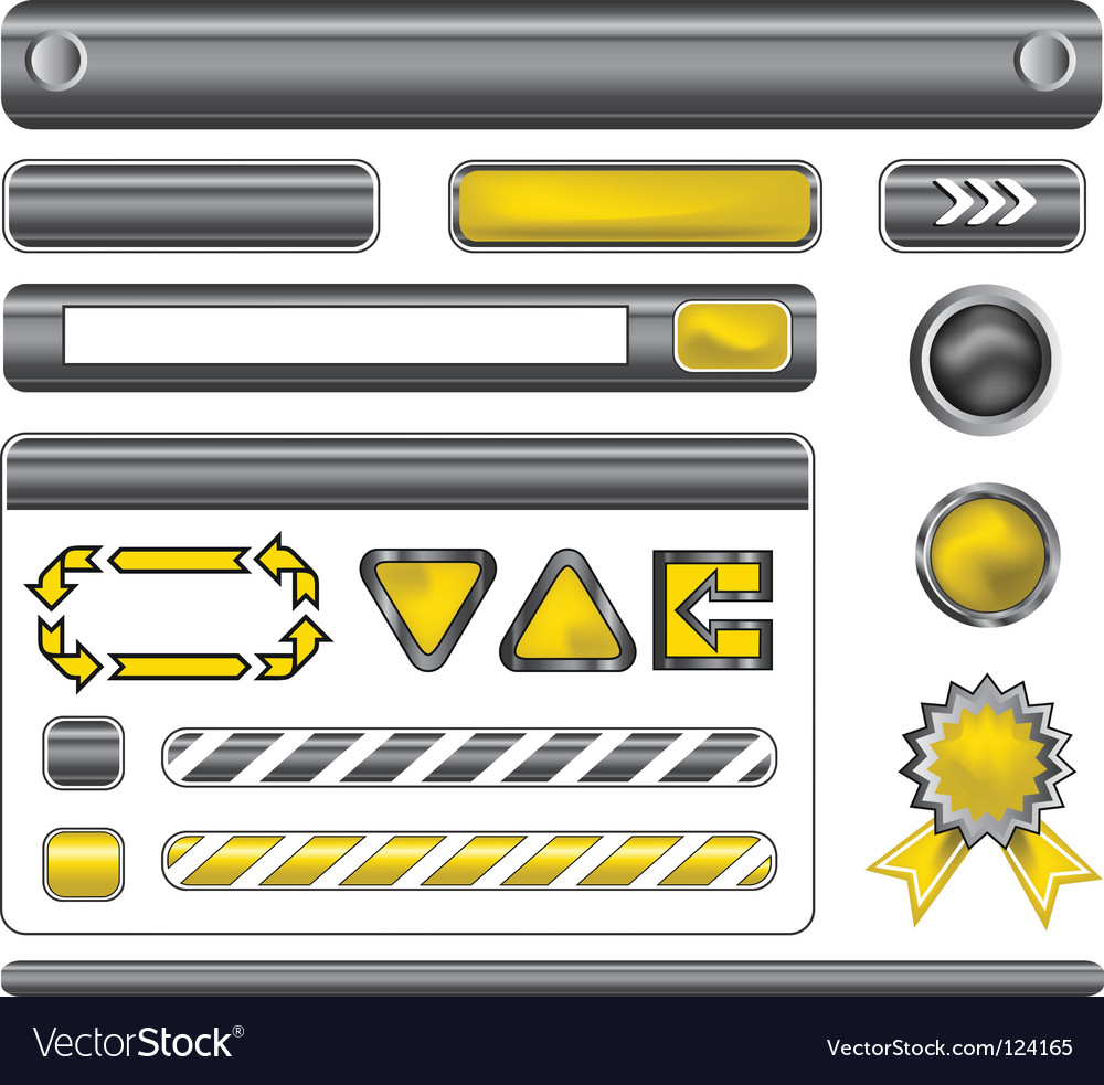 Web template elements vector | Price: 1 Credit (USD $1)