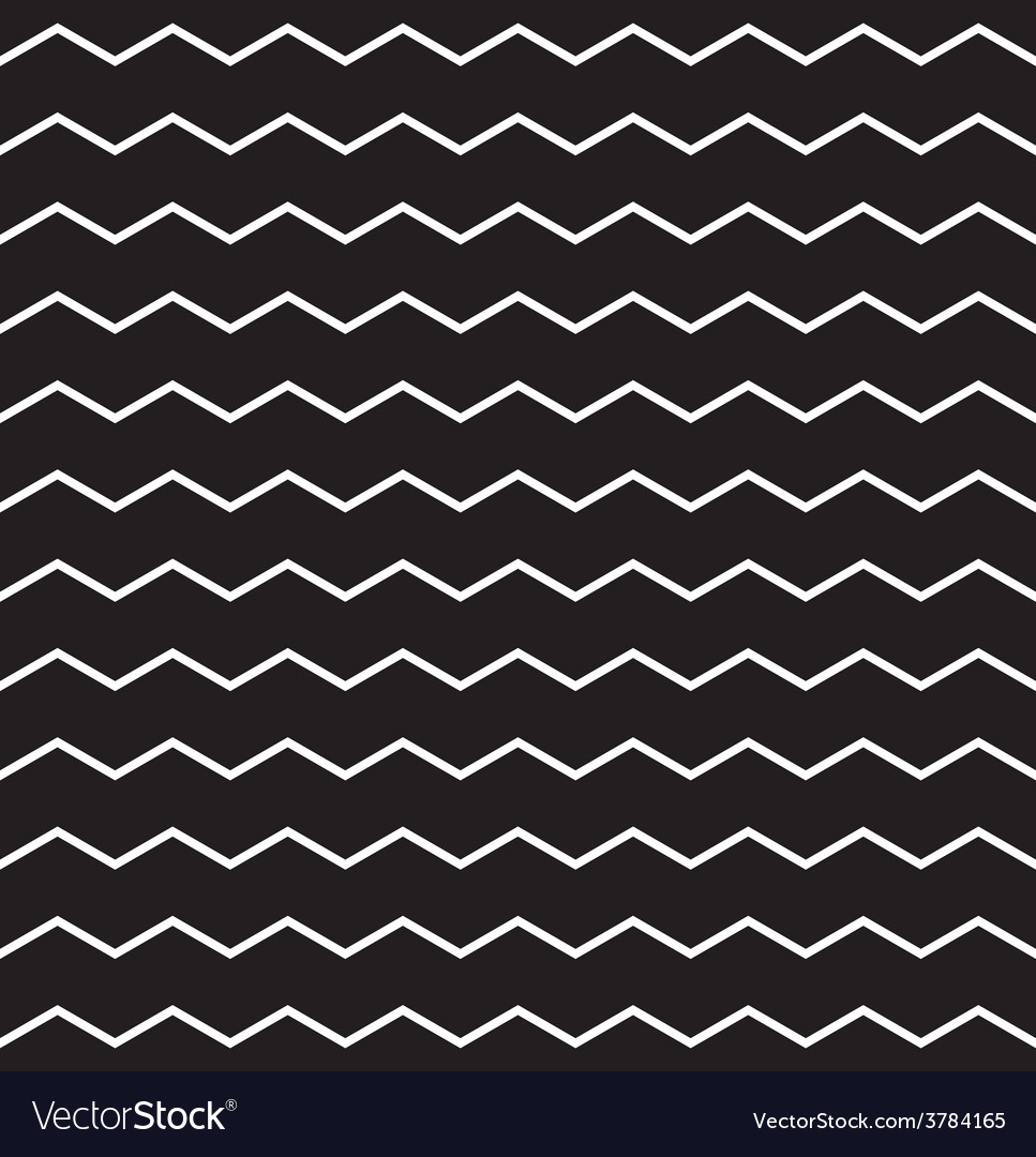 Zig zag black and white chevron tile pattern vector | Price: 1 Credit (USD $1)
