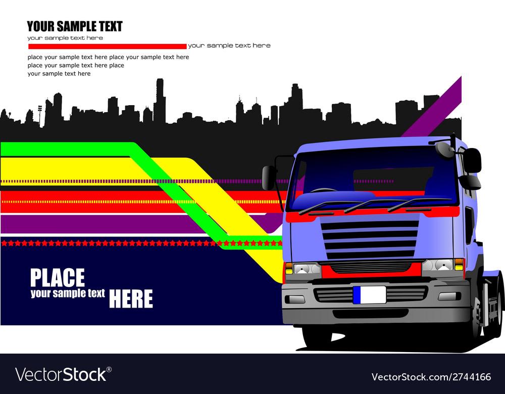 Al 0549 truck 01 vector | Price: 1 Credit (USD $1)