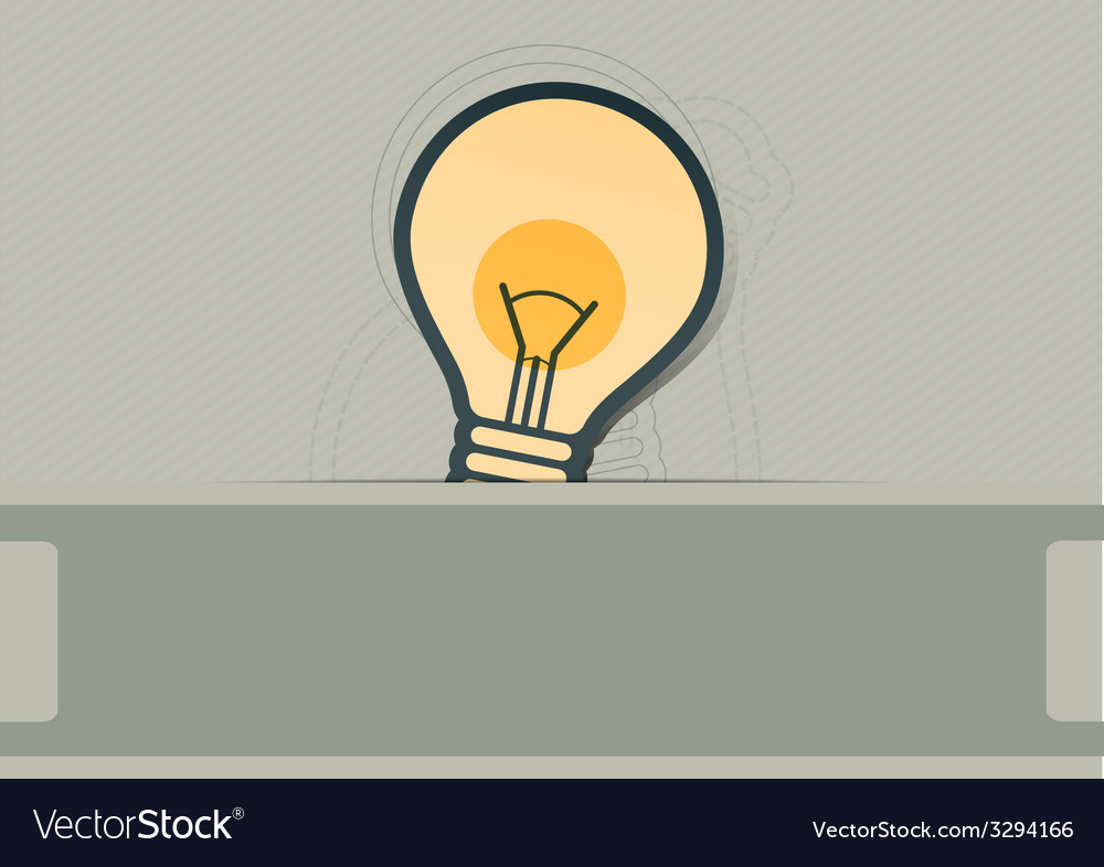 Bulb symbol label design vector | Price: 1 Credit (USD $1)