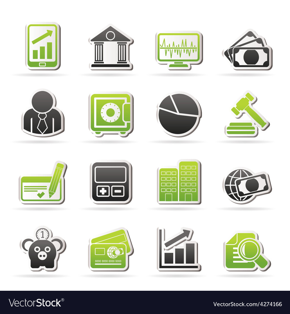 Business finance and bank icons vector | Price: 1 Credit (USD $1)
