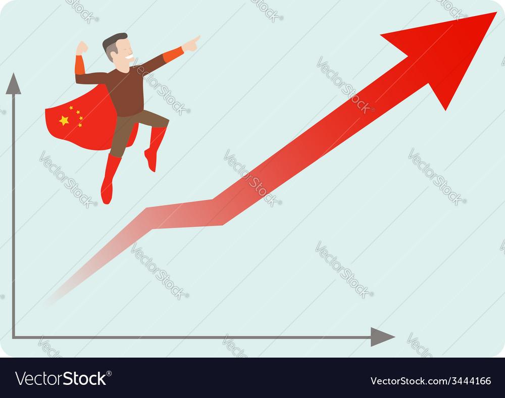 China economics rising vector | Price: 1 Credit (USD $1)