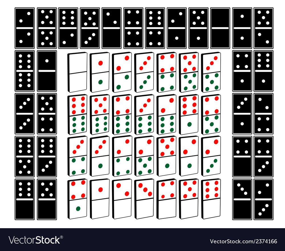 Different kinds of domino vector | Price: 1 Credit (USD $1)