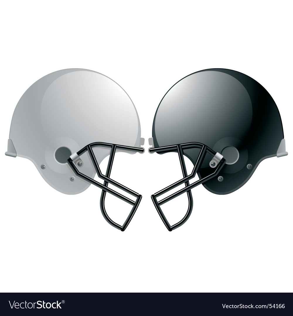 Football helmets vector | Price: 1 Credit (USD $1)